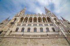 La construction du Parlement à Budapest, Hongrie Photos libres de droits