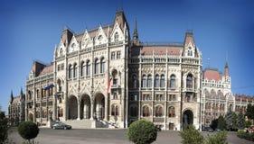 La construction du Parlement de la Hongrie Photo stock