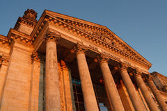 La construction du Parlement de Reichstag, Berlin, Allemagne Images stock