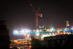 La construction du skytrain Image libre de droits