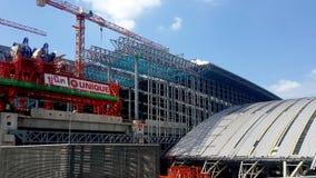 La construction est en cours à la station grande de Bangsue image libre de droits