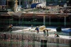 La construction est plan à longue portée de genre de reportage-un images stock