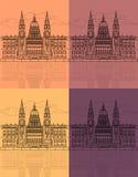 La construction hongroise du Parlement Photos stock