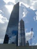 La construction la plus grande à Changhaï Photo stock