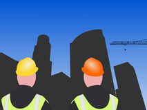 LA construction workers Royalty Free Stock Photos