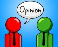 La conversation d'opinion indique le point de vue et l'hypothèse Photos stock