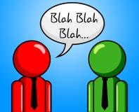 La conversazione blabla mostra la chiacchiera e la conversazione Fotografia Stock