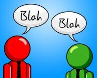 La conversazione blabla rappresenta la chiacchiera e la chiacchierata Fotografia Stock