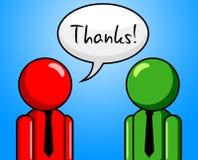 La conversazione di ringraziamenti rappresenta la chiacchiera e Chinwag Immagine Stock Libera da Diritti