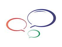 La conversazione variopinta bolle icona illustrazione vettoriale
