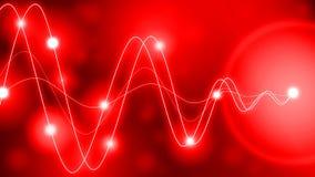 La conversion de l'énergie ondule le rouge Image libre de droits