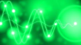 La conversion de l'énergie ondule le vert Photographie stock libre de droits