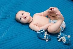 La coperta blu Fotografia Stock