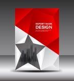 La copertura di bianco e di rosso progetta l'illustrazione di vettore del rapporto annuale Fotografie Stock