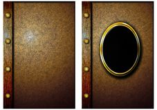 La copertura di vecchio libro. 03 Fotografia Stock Libera da Diritti