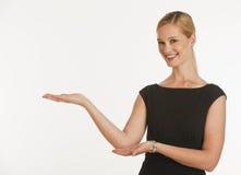 la copie de femme d'affaires remet l'espace de fixation vers le haut Image libre de droits