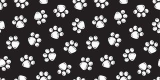 La copie de pied de vecteur de patte de Paw Seamless Pattern Cat de chien a isolé la bulle de contexte de fond de papier peint illustration de vecteur