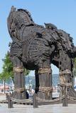 La copie du cheval en bois de troy chez Canakkale, Image libre de droits