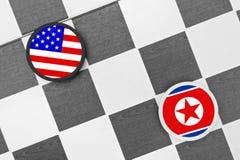 La Corée du Nord contre la Corée du Sud images libres de droits