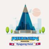 La Corée du Nord, hôtel de Ryugyong architecture intéressante autour de Photo stock