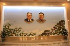 LA CORÉE DU NORD, LE 15 SEPTEMBRE 2017 : Portraits de deux présidents DPRK photos stock