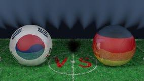 La Corée du Sud contre l'Allemagne Coupe du monde 2018 de la FIFA Image 3D originale Image libre de droits
