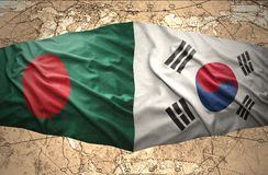 La Corée du Sud et le Bangladesh Image stock