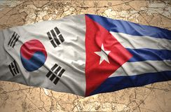 La Corée du Sud et le Cuba illustration libre de droits