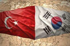 La Corée du Sud et la Turquie Images libres de droits
