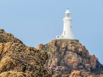 La Corbiere Lighthouse, Jersey, Channel Islands, UK Stock Images