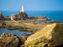 La Corbiere Lighthouse, Jersey, Channel Islands, UK Stock Photos