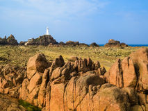 La Corbiere Lighthouse, Jersey, Channel Islands, UK Royalty Free Stock Photos