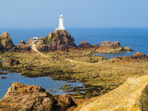 La Corbiere Lighthouse, Jersey, Channel Islands, UK Royalty Free Stock Images