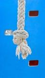 La corda è sul campo sportivo Fotografie Stock Libere da Diritti