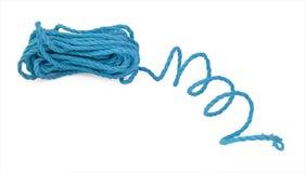 La corda blu nella bobina Fotografia Stock Libera da Diritti