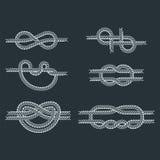 La corda di barca del mare annoda il segno naturale dell'attrezzatura del cavo marino della marina isolato illustrazione di vetto illustrazione vettoriale