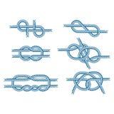 La corda di barca del mare annoda il segno naturale dell'attrezzatura del cavo marino della marina isolato illustrazione di vetto royalty illustrazione gratis