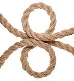 La corda hempen. Isolato Fotografia Stock