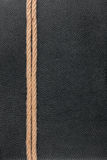 La corda si trova su cuoio naturale Fotografia Stock