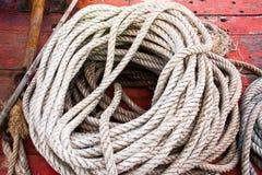 La corde blanche. Image libre de droits