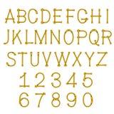 La corde de vecteur marque avec des lettres l'alphabet Images libres de droits