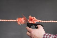 La corde rouge est coupée Image libre de droits