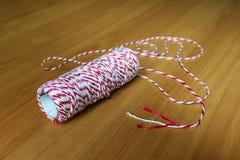 La corde rouge et blanche Image stock