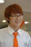 La Corée du Sud, région de la capitale nationale, Séoul, serveuse travaillant au café de Séoul novembre 2013 Photo stock