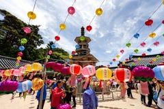 La Corea che celebra compleanno di Buddhas fotografia stock