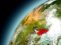 La Corea del Nord dall'orbita di Earth di modello Fotografia Stock Libera da Diritti