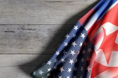 La Corea e gli Stati Uniti d'America Immagine Stock Libera da Diritti