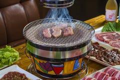 La Corea ha disegnato il barbecue Immagine Stock Libera da Diritti