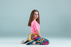 La coreografía adolescente del hip-hop del baile de la muchacha Fotos de archivo libres de regalías