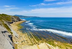 La Corniche, nahe Hendaye in südwestlichem Frankreich lizenzfreies stockfoto